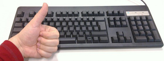 Black Topre Realforce 105U keyboard