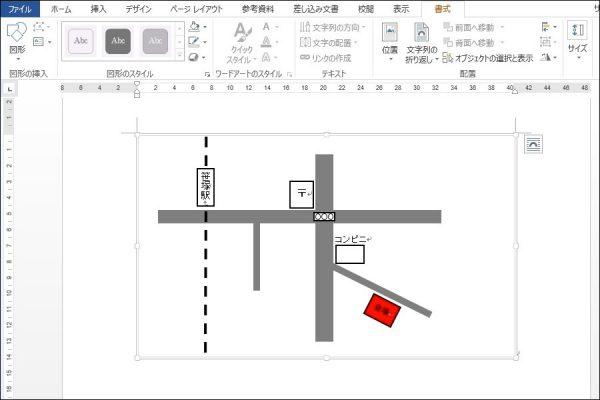 図形機能で簡単!Wordを使った地図の書き方