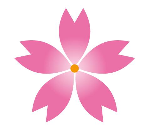 Illustratorで桜の花を描こう。