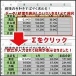 【Excel】オートサムで縦横の合計を一括で求める方法