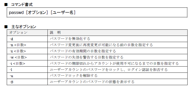 図8 passwdコマンド