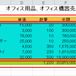 【Excel】効率のよい罫線の引き方